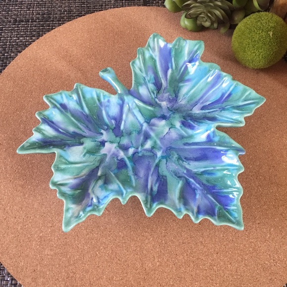 Mid Century Other - Mid Century Dryden Pottery Leaf Dish